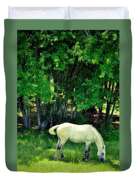 Duvet Cover featuring the photograph Just A Little Shade by Jan Amiss Photography