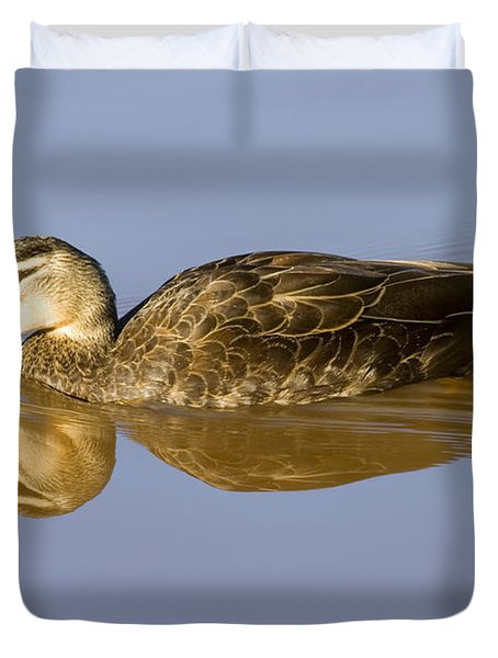 Just A Sip Duvet Cover by Mike  Dawson