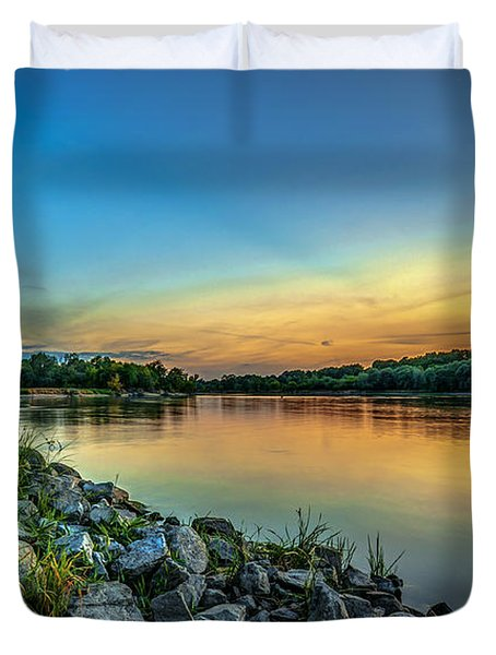 Just After Sun Went Down Duvet Cover