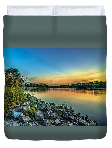 Just After Sun Went Down Duvet Cover by Julis Simo