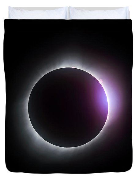 Just After Totality - Solar Eclipse August 21, 2017 Duvet Cover
