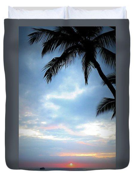 Just Another Hawaiian Sunset Duvet Cover