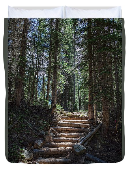 Duvet Cover featuring the photograph Just Another Stairway To Heaven by James BO Insogna