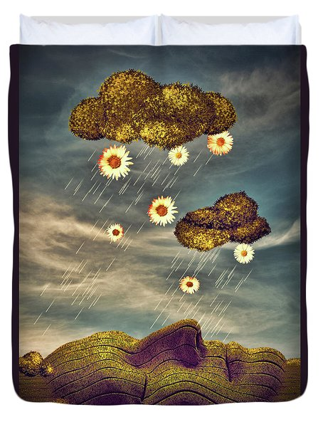 Just Another Summer Rainy Day Duvet Cover