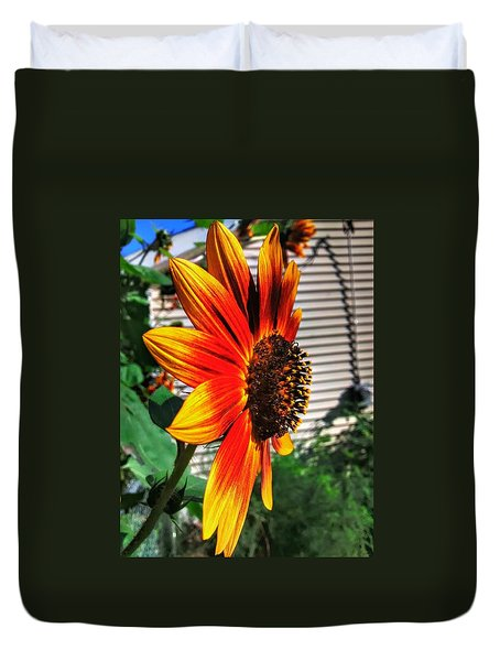 Just Another Sunflower Duvet Cover by Dustin Soph