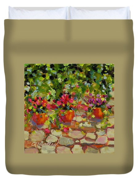 Just Another Wall In Tuscany Duvet Cover