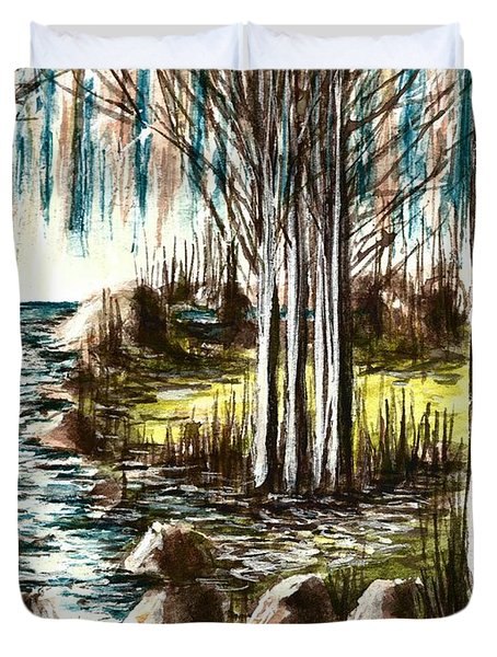 Just Around The Riverbend  Duvet Cover