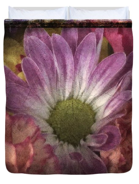 Just Because Bouquet Duvet Cover