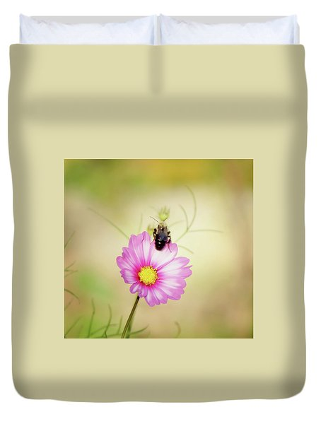 Just Bee Cosmos Duvet Cover by MTBobbins Photography