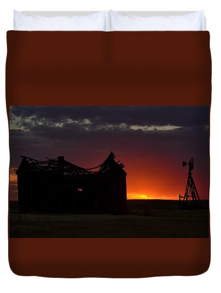 Just Before Sunrise Duvet Cover by Clarice  Lakota