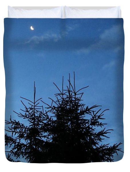Duvet Cover featuring the photograph Just Before Sunrise by Robin Regan