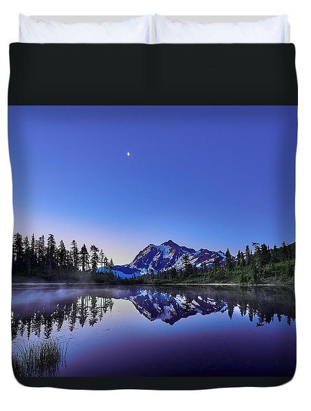 Duvet Cover featuring the photograph Just Before The Day by Jon Glaser