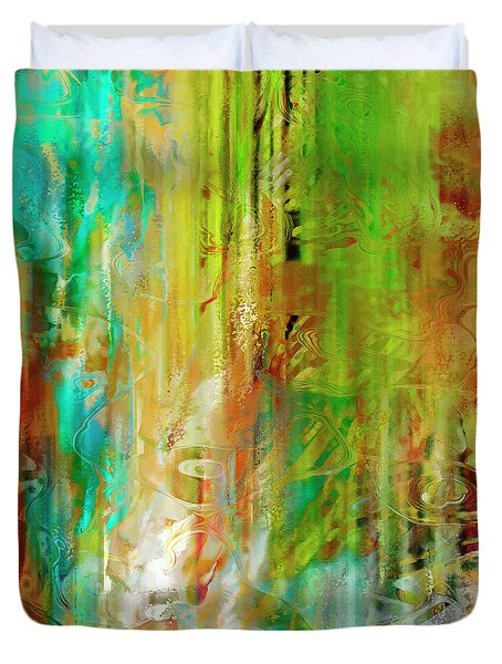 Just Being - Abstract Art - Diptych 1 Of 2 Duvet Cover