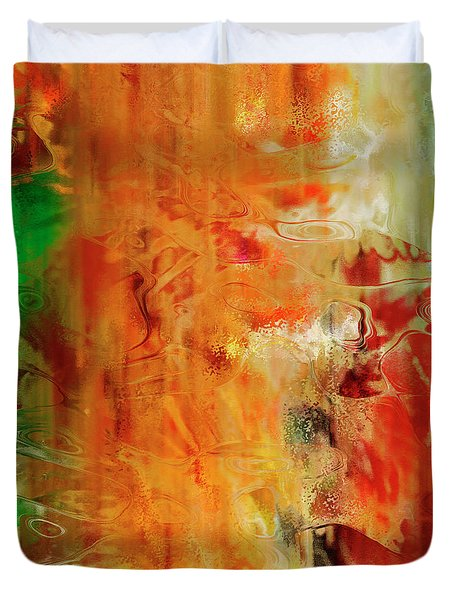 Just Being - Abstract Art - Diptych 2 Of 2 Duvet Cover