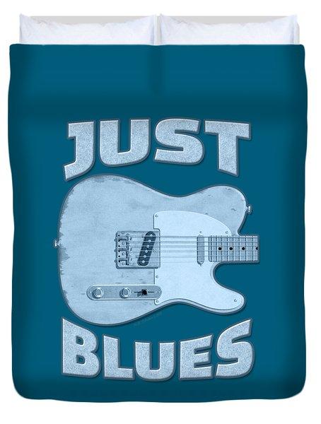 Just Blues Shirt Duvet Cover
