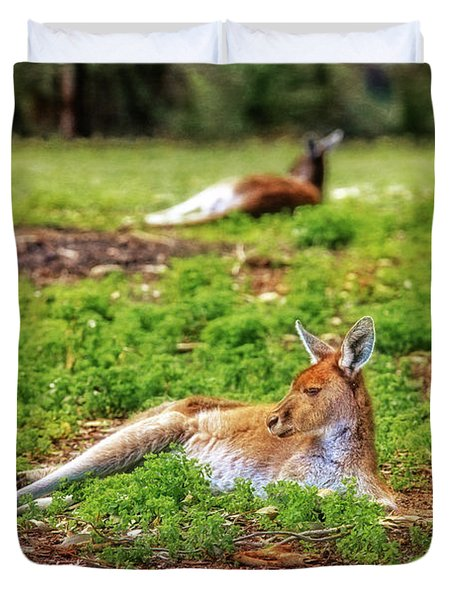 Just Chillin, Yanchep National Park Duvet Cover