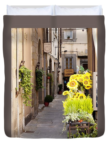 Just Down The Road Duvet Cover by Rae Tucker