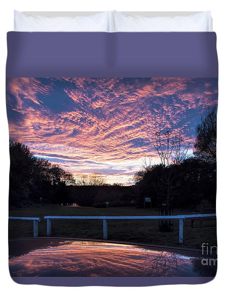 Just Had To Stop Duvet Cover by David  Hollingworth
