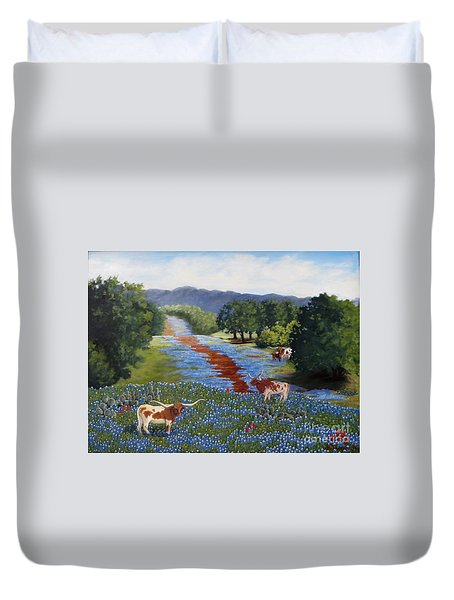 Just Hangin' Out Duvet Cover by Beverly Theriault