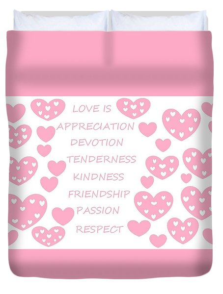 Just Hearts 3 Duvet Cover