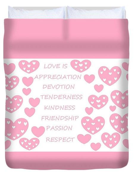 Just Hearts 3 Duvet Cover by Linda Velasquez
