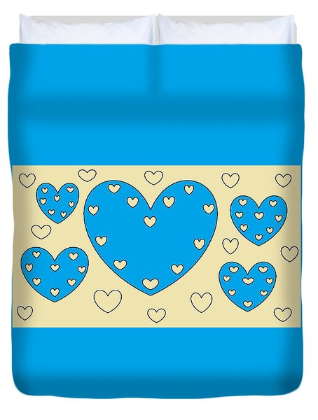 Just Hearts 4 Duvet Cover
