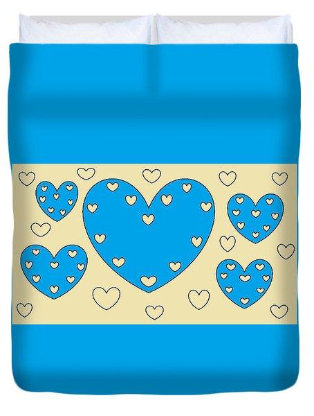 Just Hearts 4 Duvet Cover by Linda Velasquez