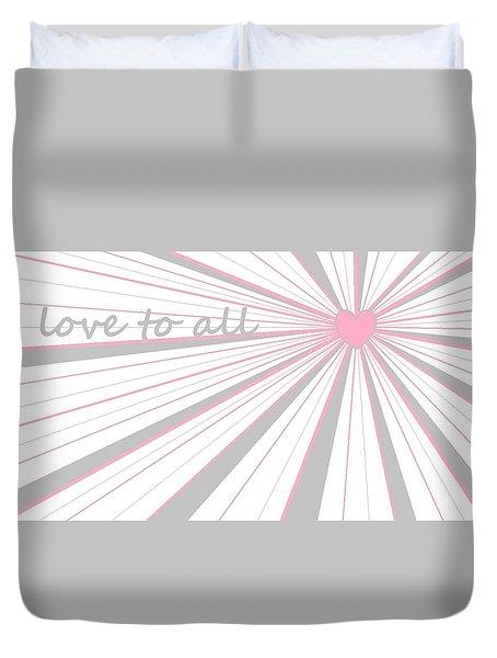 Just Hearts 5 Duvet Cover by Linda Velasquez