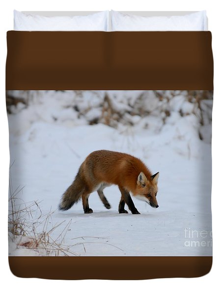 Just Hunting For Breakfast Duvet Cover