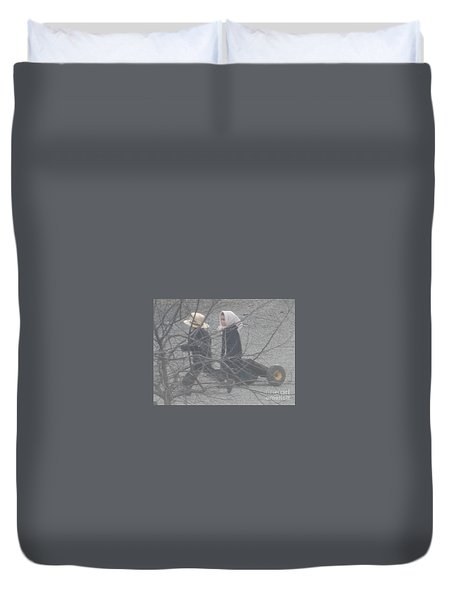 Just Like Mom And Dad Duvet Cover