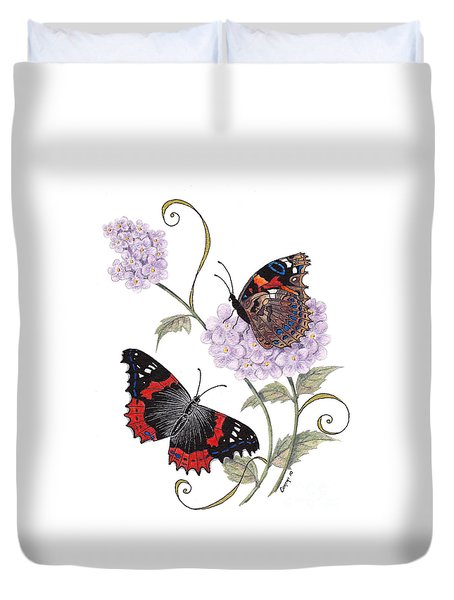 Just Living Is Not Enough Duvet Cover by Stanza Widen