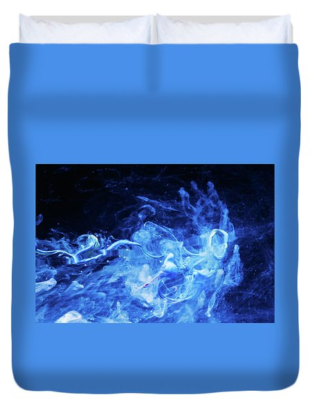 Just Passing By - Blue Art Photography Duvet Cover