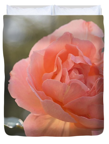 Duvet Cover featuring the photograph Just Peachy by Julie Andel