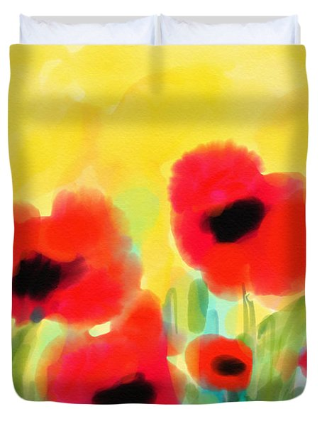 Just Poppies Duvet Cover
