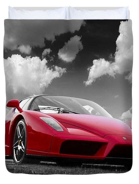 Just Red 1 2002 Enzo Ferrari Duvet Cover