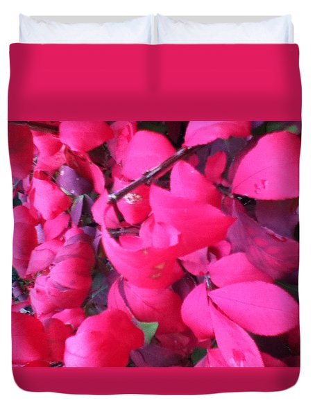 Just Red/pink Duvet Cover
