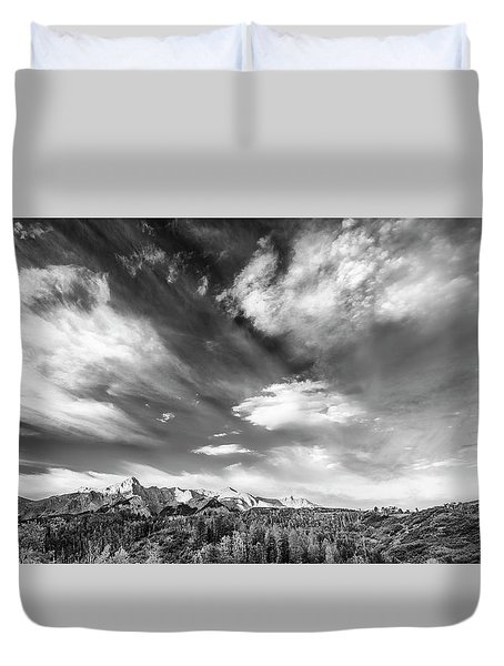 Just The Clouds Duvet Cover by Jon Glaser