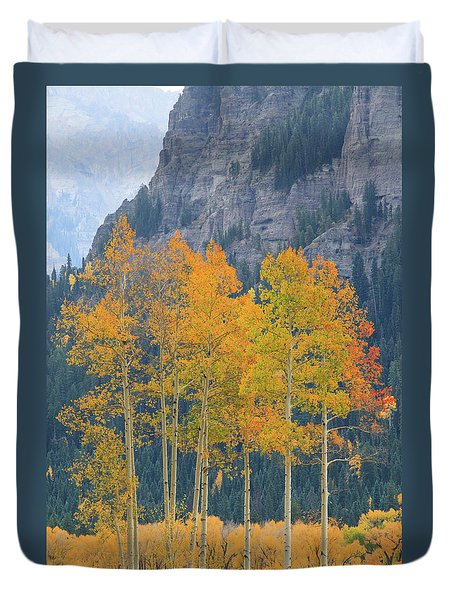 Duvet Cover featuring the photograph Just The Ten Of Us by David Chandler