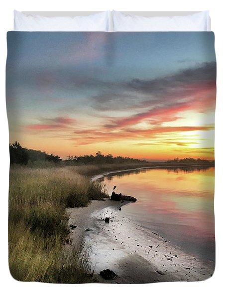 Just The Two Of Us At Sunset Duvet Cover