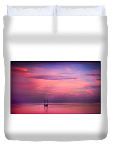Just The Two Of Us Duvet Cover by Karen Wiles