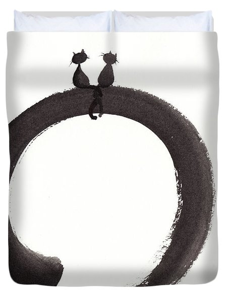 Just The Two Of Us Duvet Cover