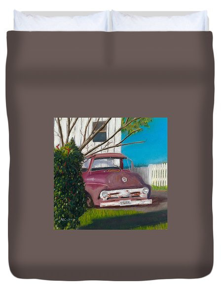 Just Up The Road Duvet Cover by Arlene Crafton