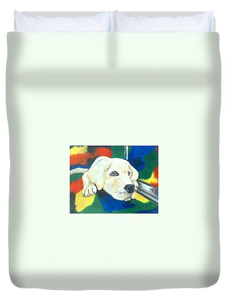 Just Waiting Duvet Cover by Jenny Pickens