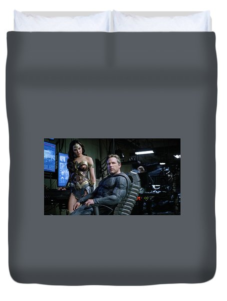 Justice League Ben Affleck Gal Gadot 4k Duvet Cover