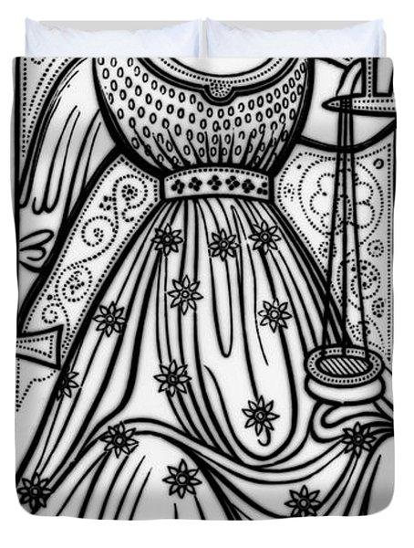 Justice Tarot Card Duvet Cover
