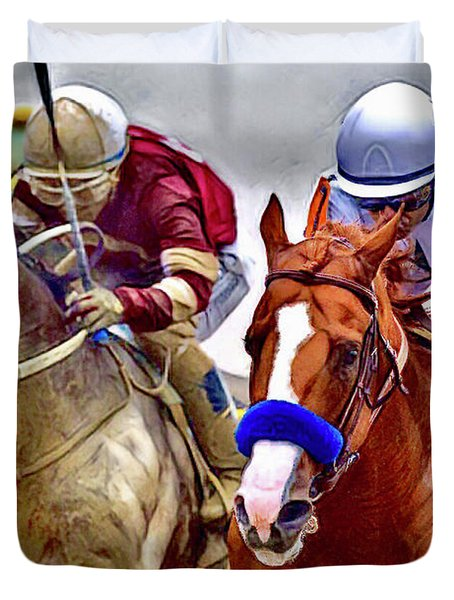 Justify In The Lead Duvet Cover