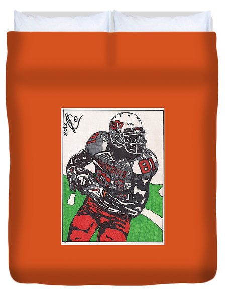 Justin Blackmon 2 Duvet Cover by Jeremiah Colley