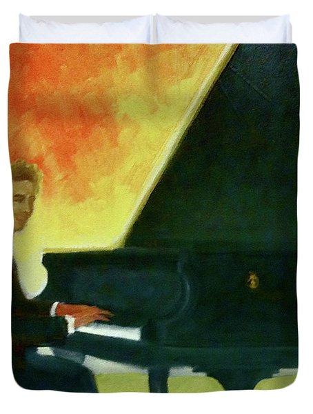 Justin Levitt Red Black Yellow Duvet Cover
