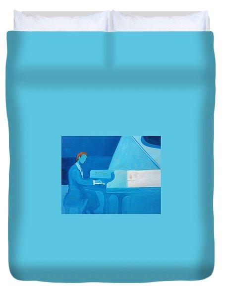 Justin Levitt Steinway Piano Blue Duvet Cover