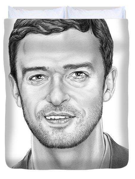 Justin Timberlake Duvet Cover by Murphy Elliott